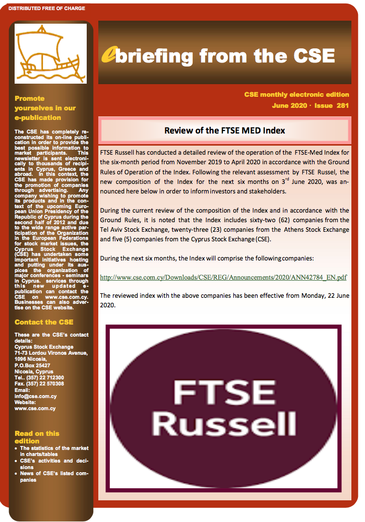 CSE: Review of the FTSE MED Index