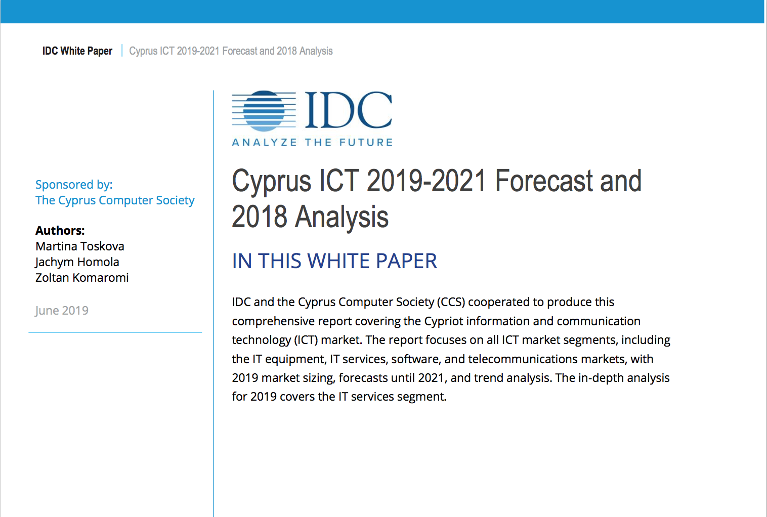 Cyprus ICT 2019-2021 Forecast and 2018 Analysis