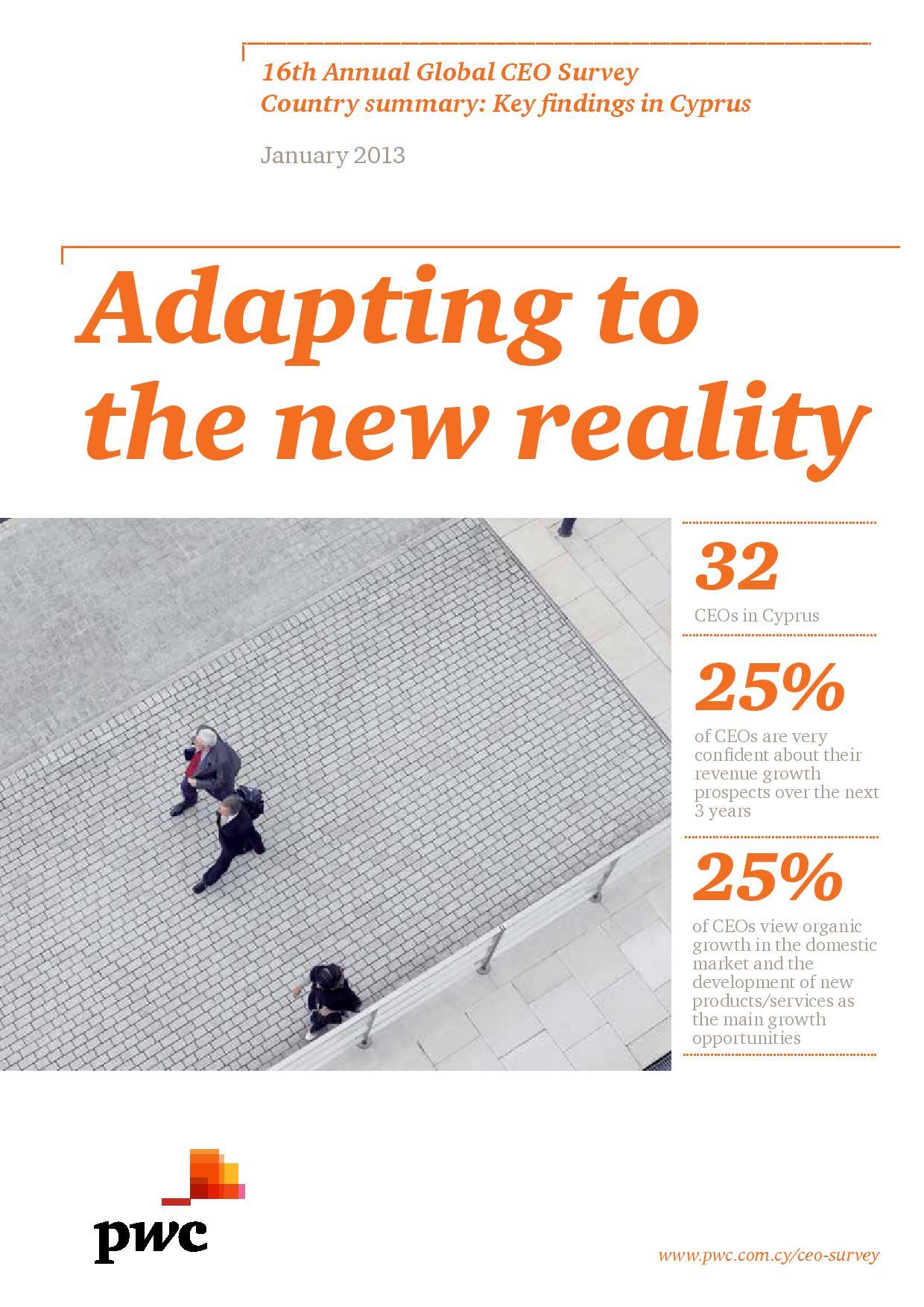 16th Annual Global CEO Survey