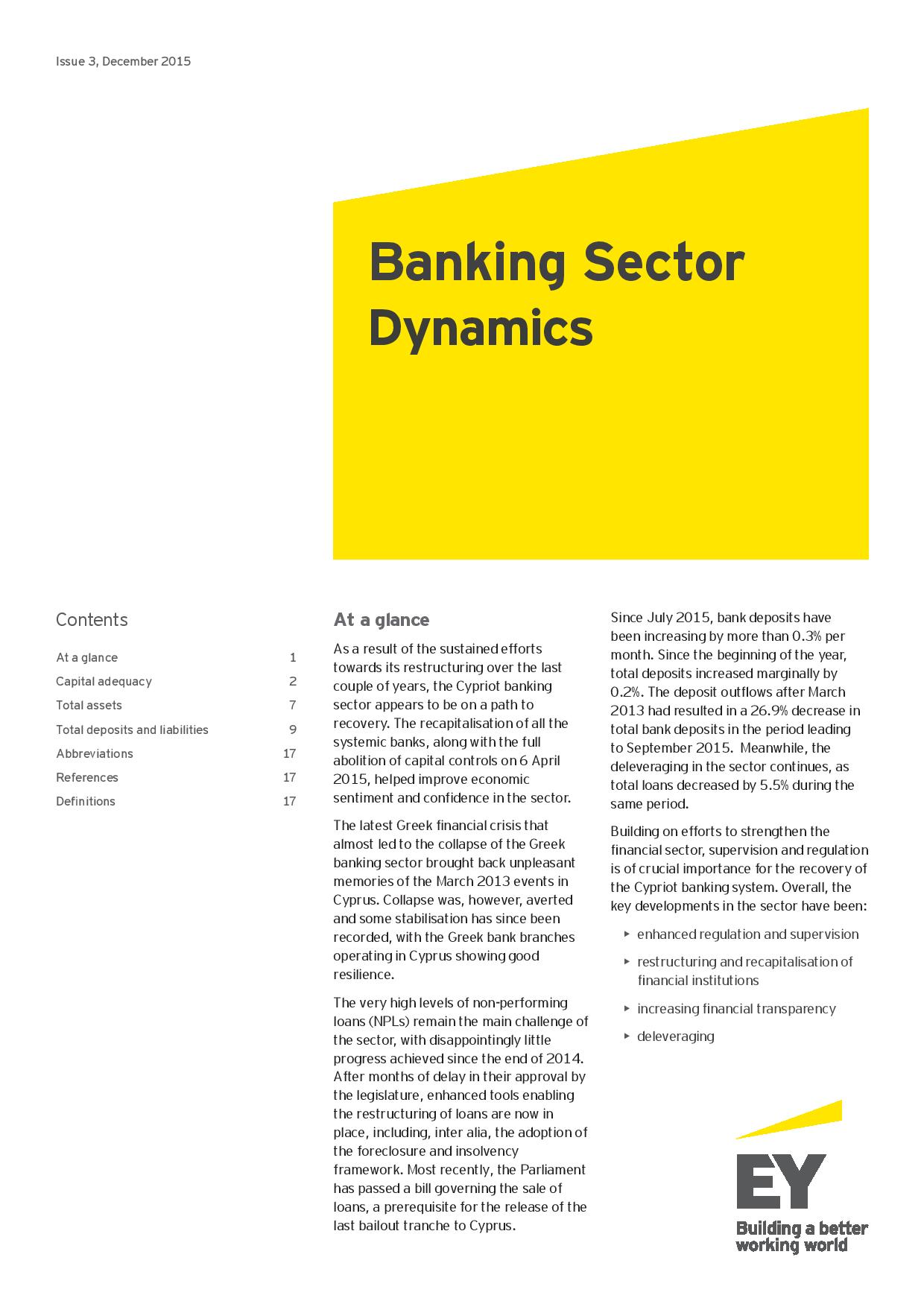 EY: Banking Sector Dynamics Issue #3 December 2015