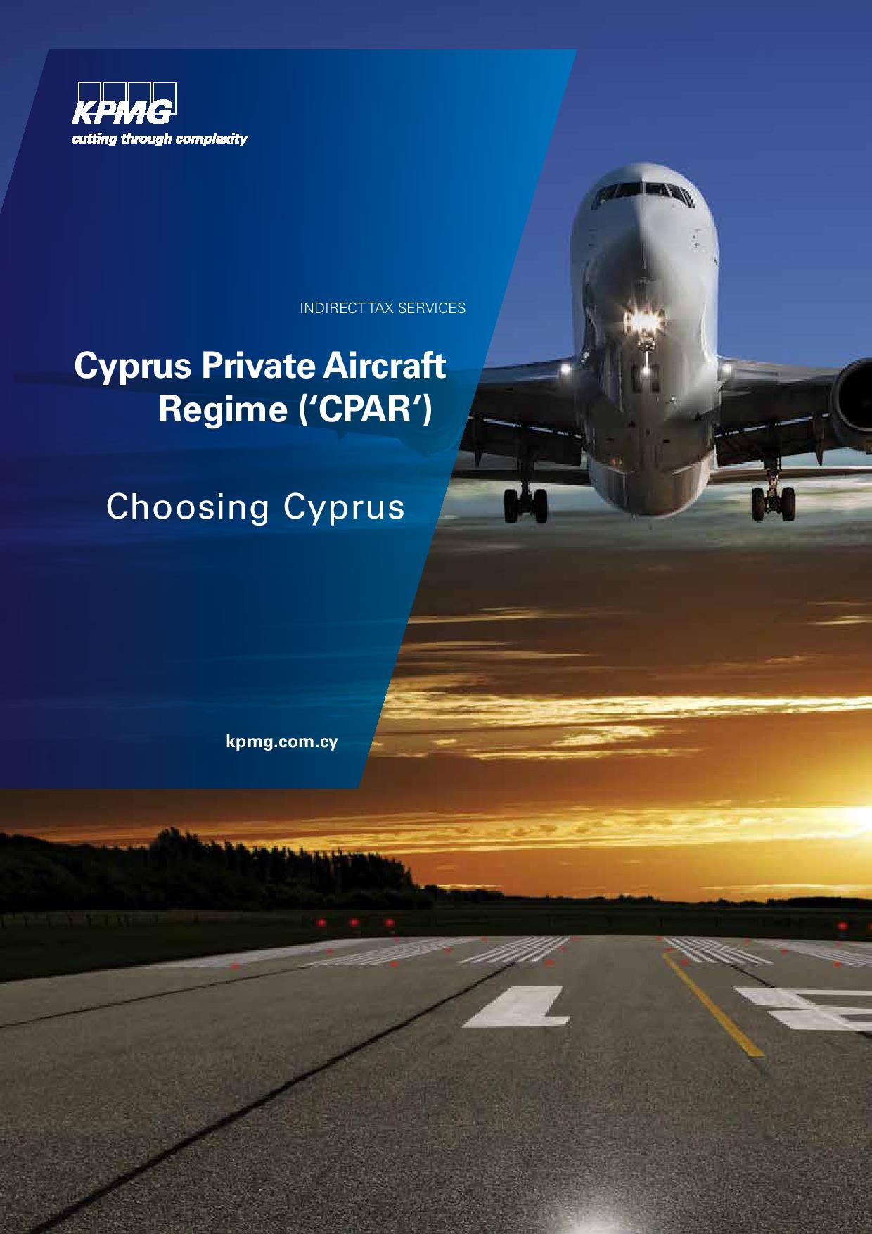 Cyprus Private Aircraft Regime ('CPAR')