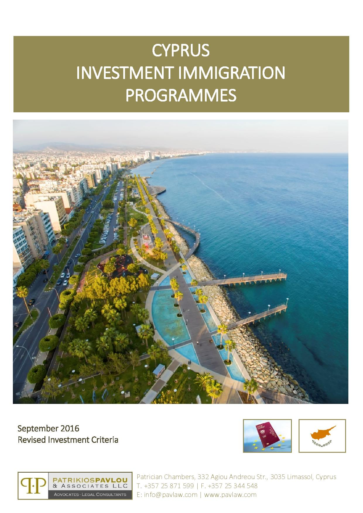 Cyprus Investment Immigration Programmes