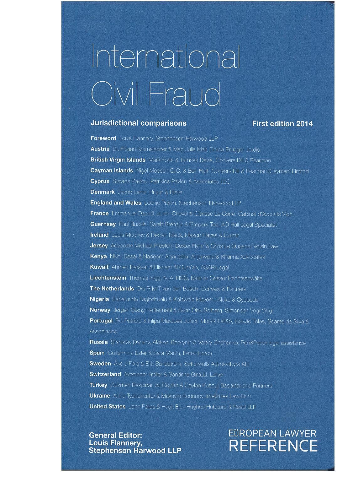 International Civil Fraud – Cyprus Chapter 2014