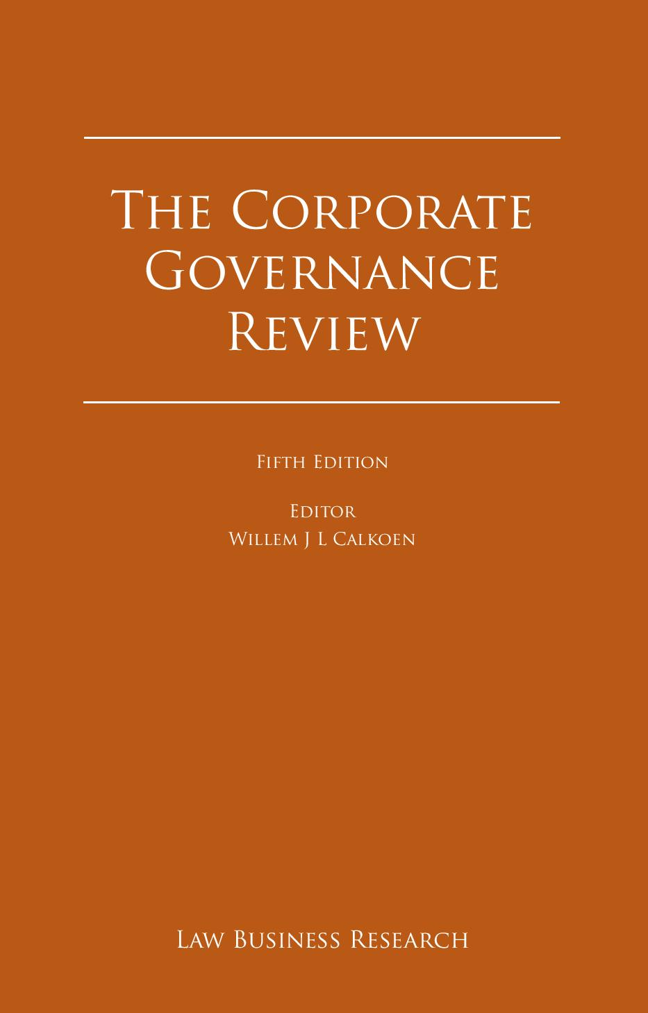 The Corporate Governance Review - Edition 5