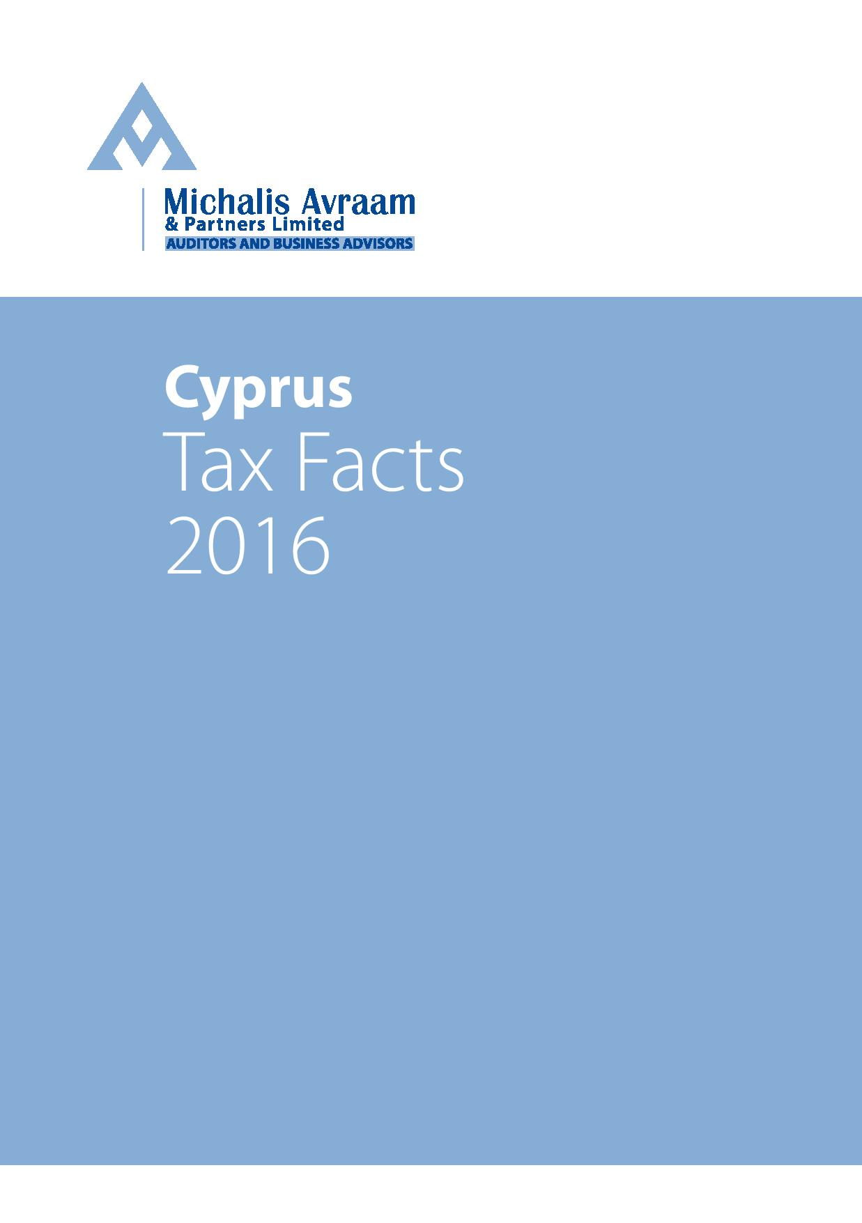 Cyprus Tax Facts: 2016 edition