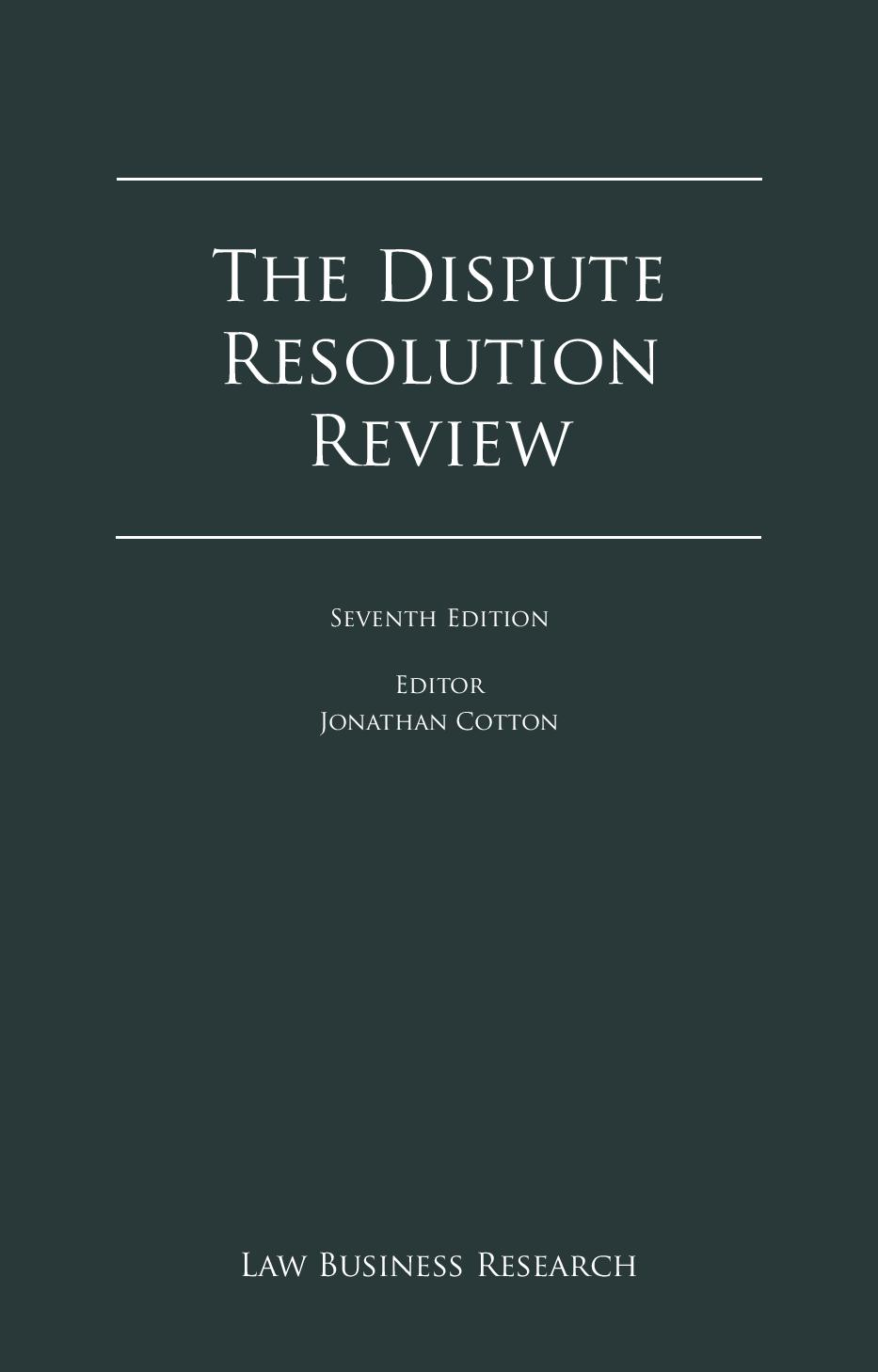 The Dispute Resolution Review-Cyprus Chapter 2015