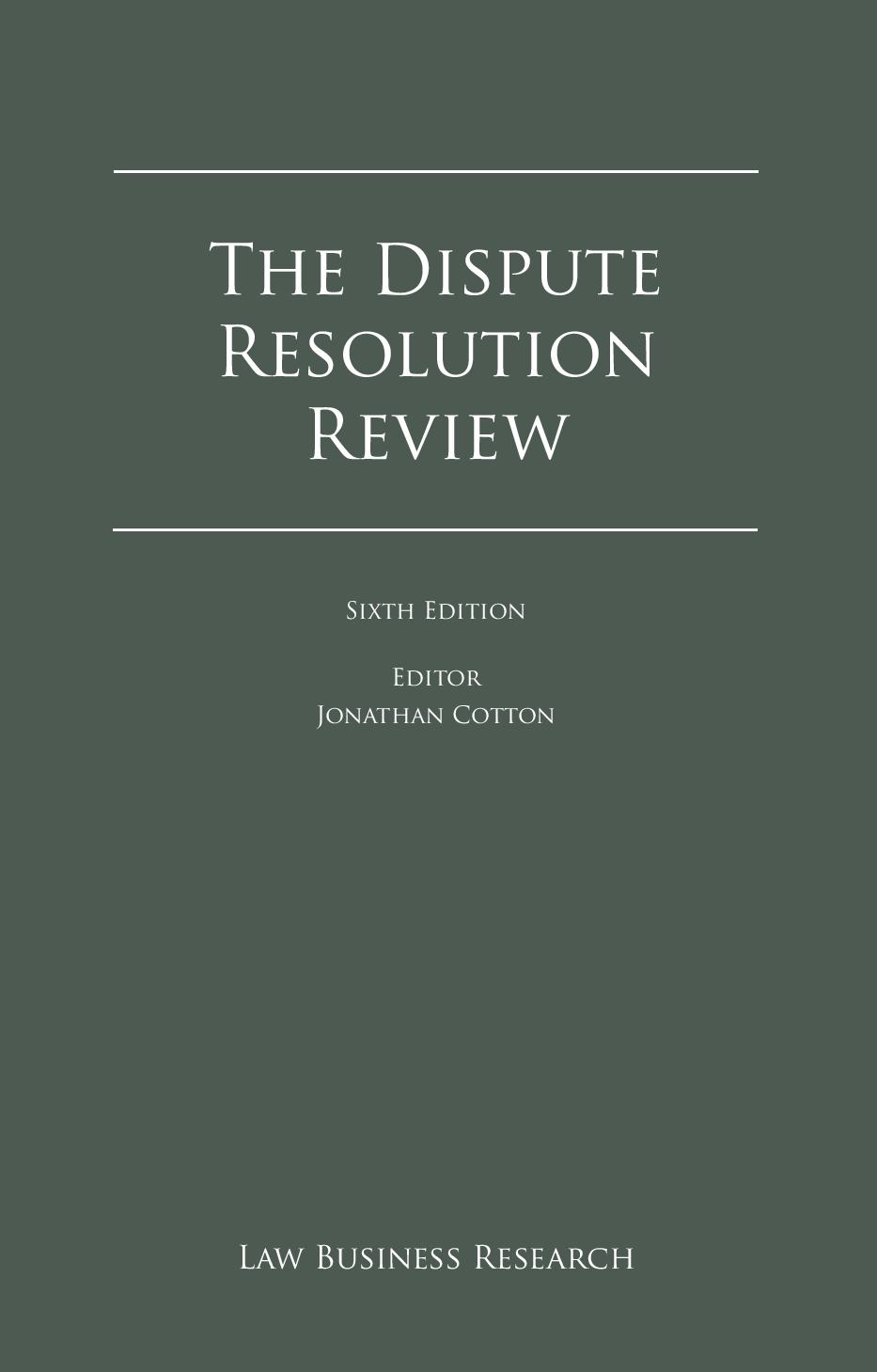 The Dispute Resolution Review – Cyprus Chapter 2014