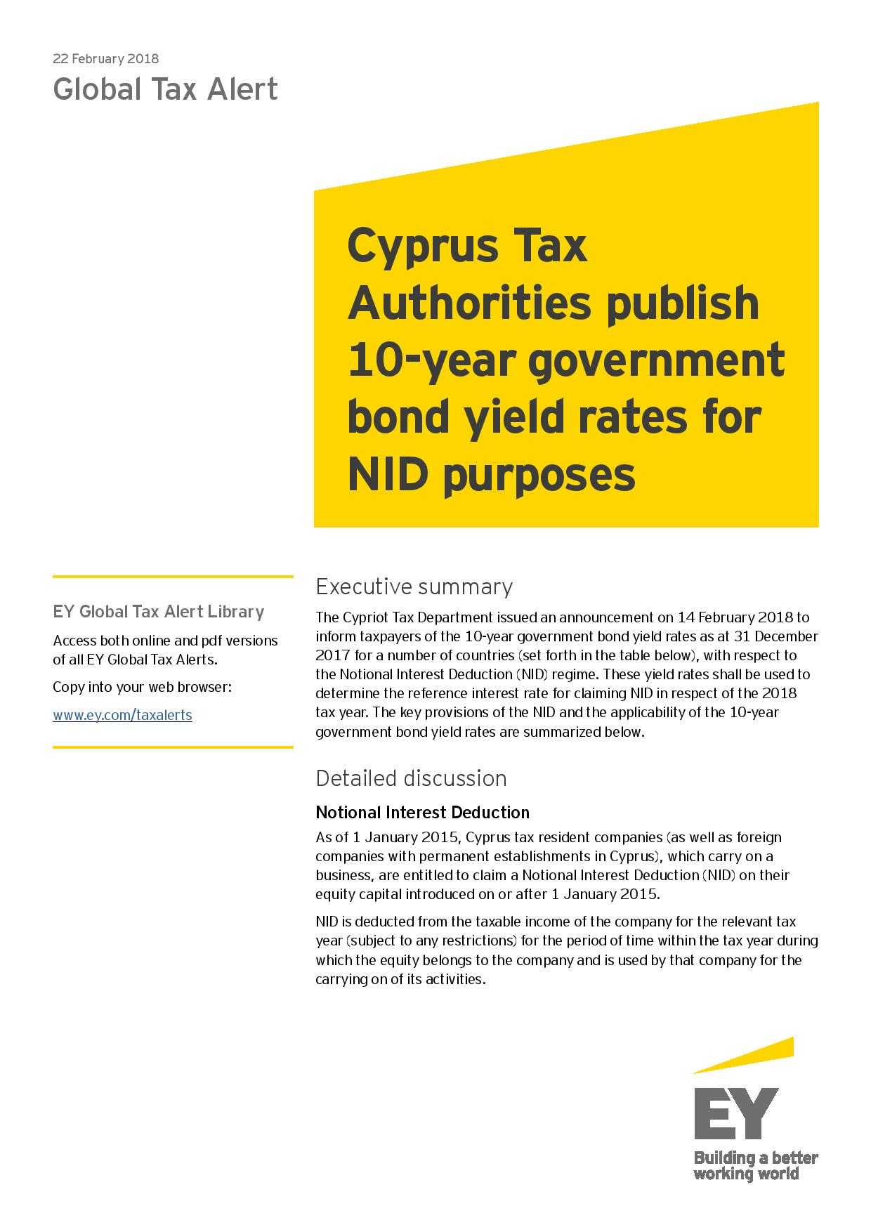 EY Global Tax Alert February 2018