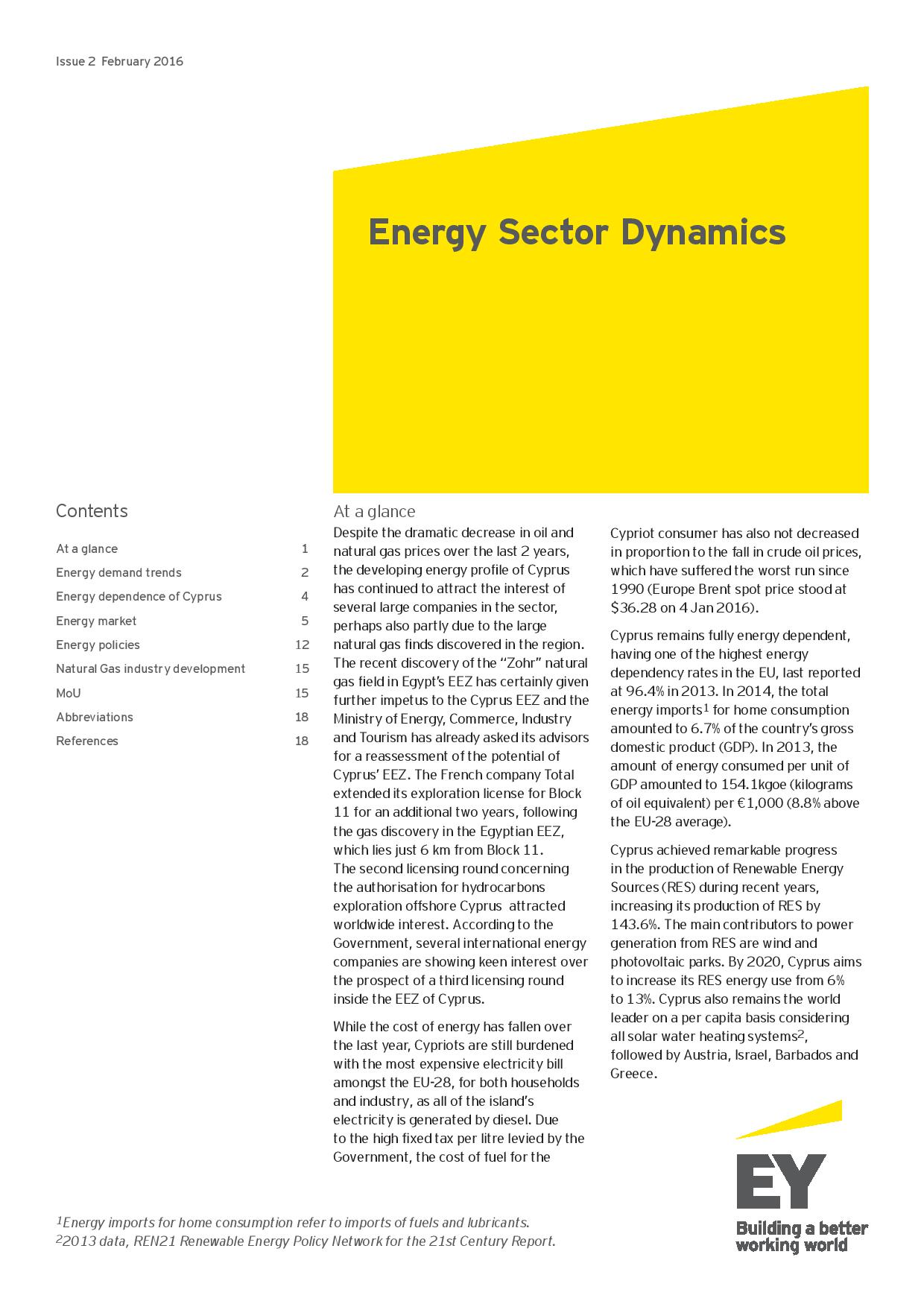 EY: Energy Sector Dynamics Issue #2 February 2016