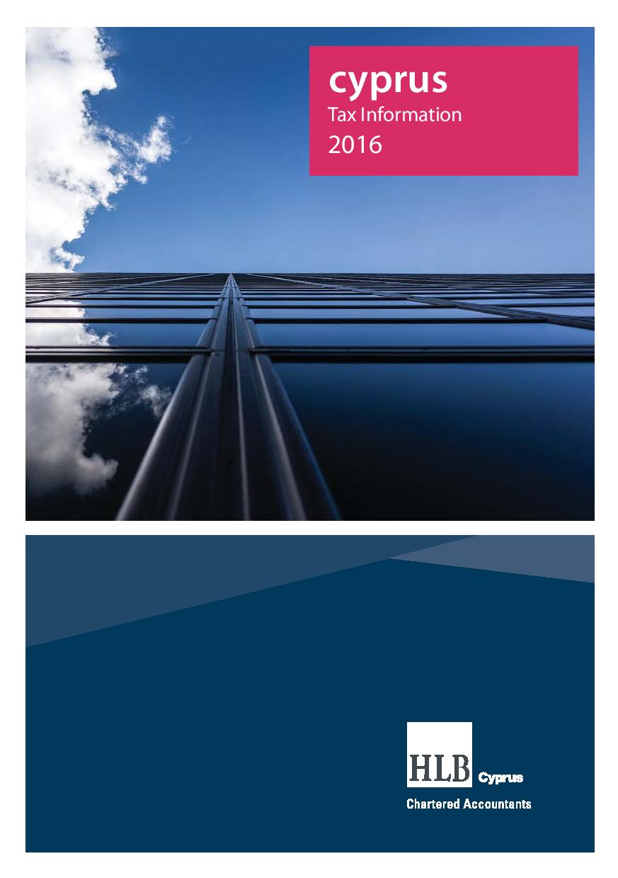 HLB Cyprus Limited: 2016 Tax Information Booklet