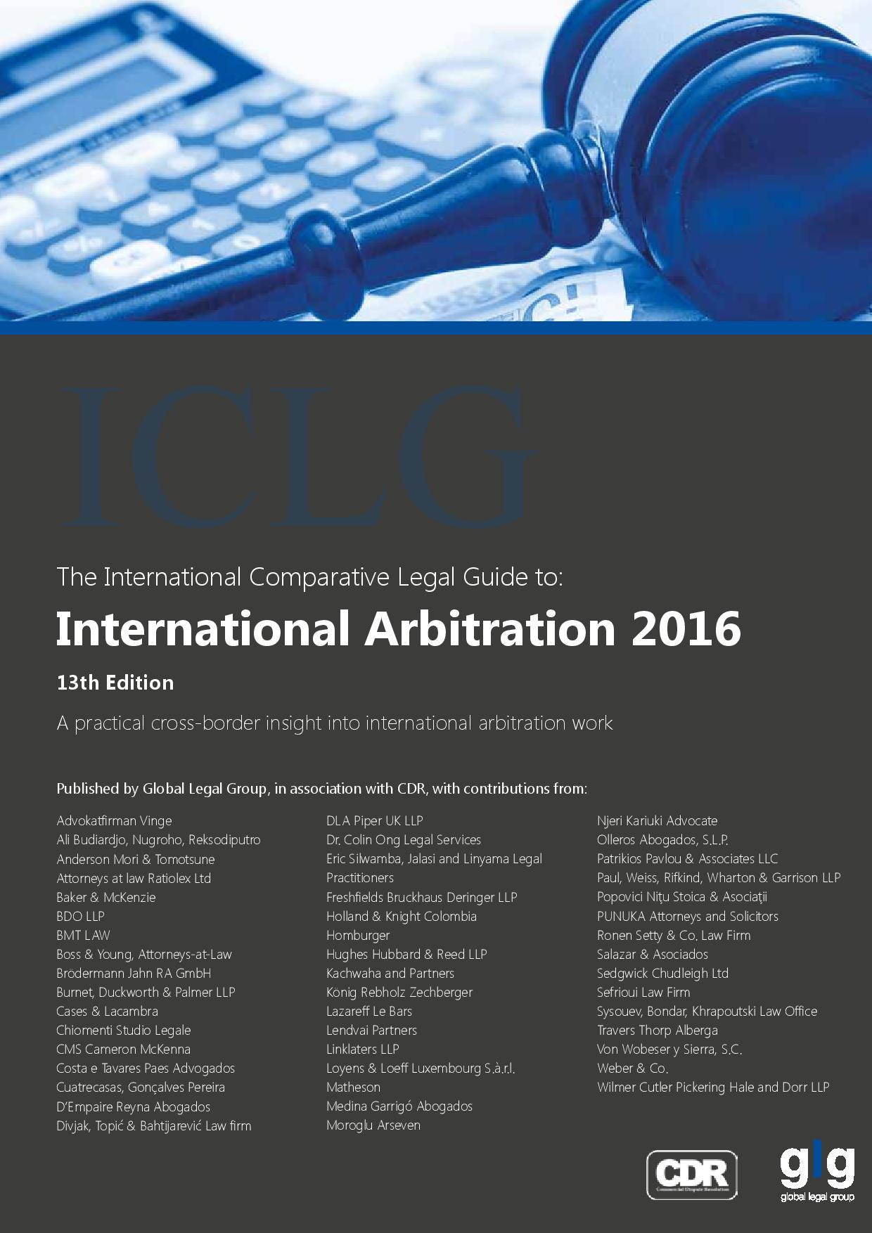 ICLG-International Arbitration, Cyprus 2016