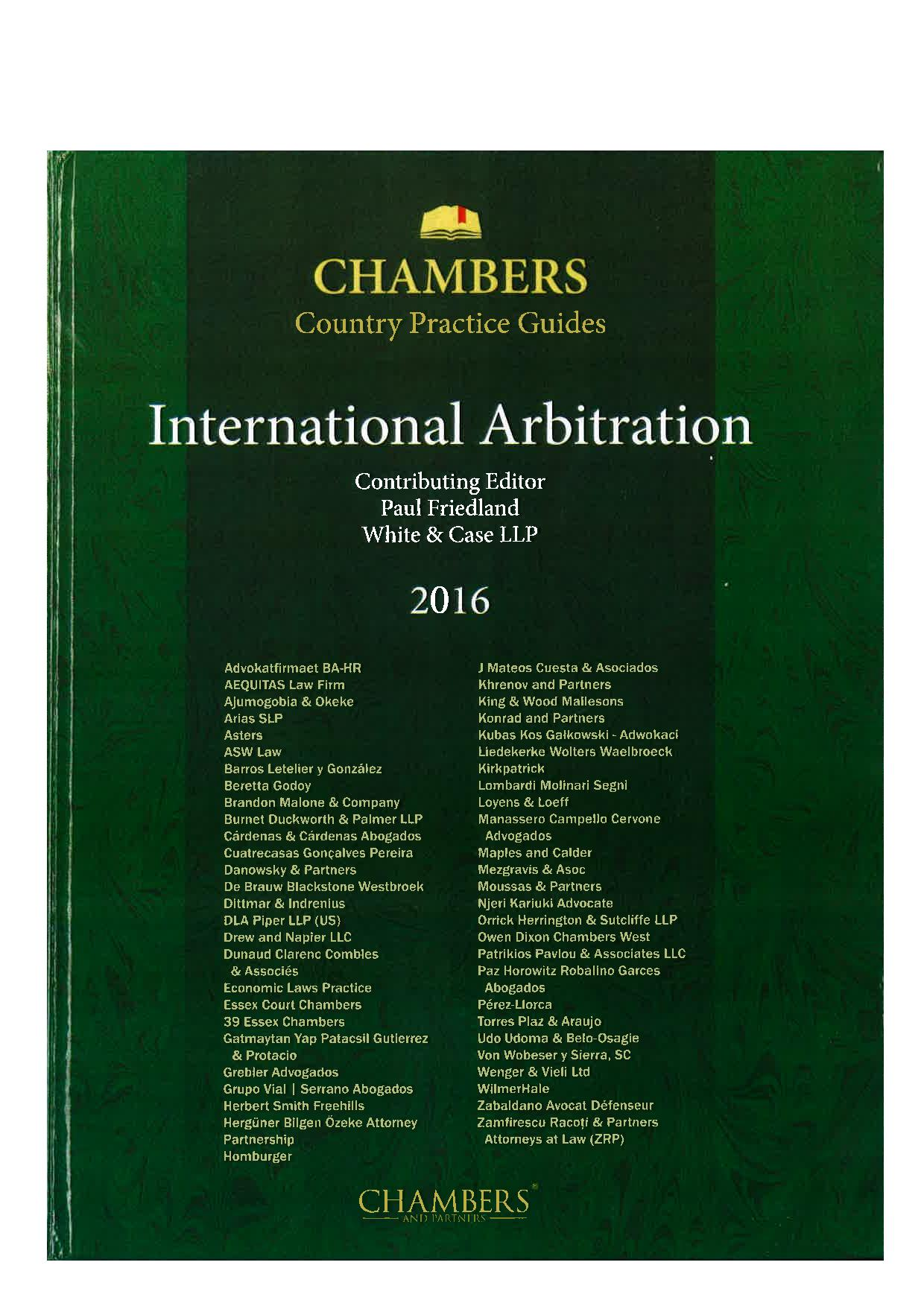 International Arbitration - Cyprus 2016