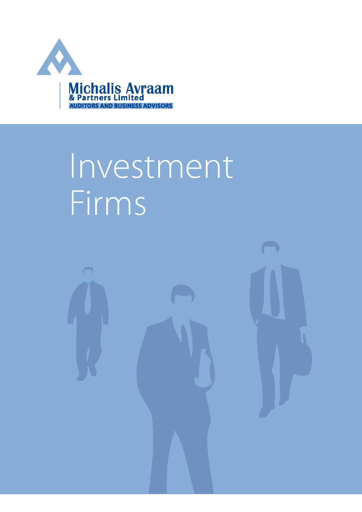 Investment Firms: 2016 edition