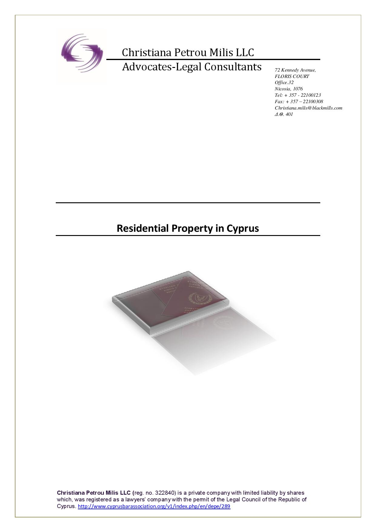Residential Property in Cyprus