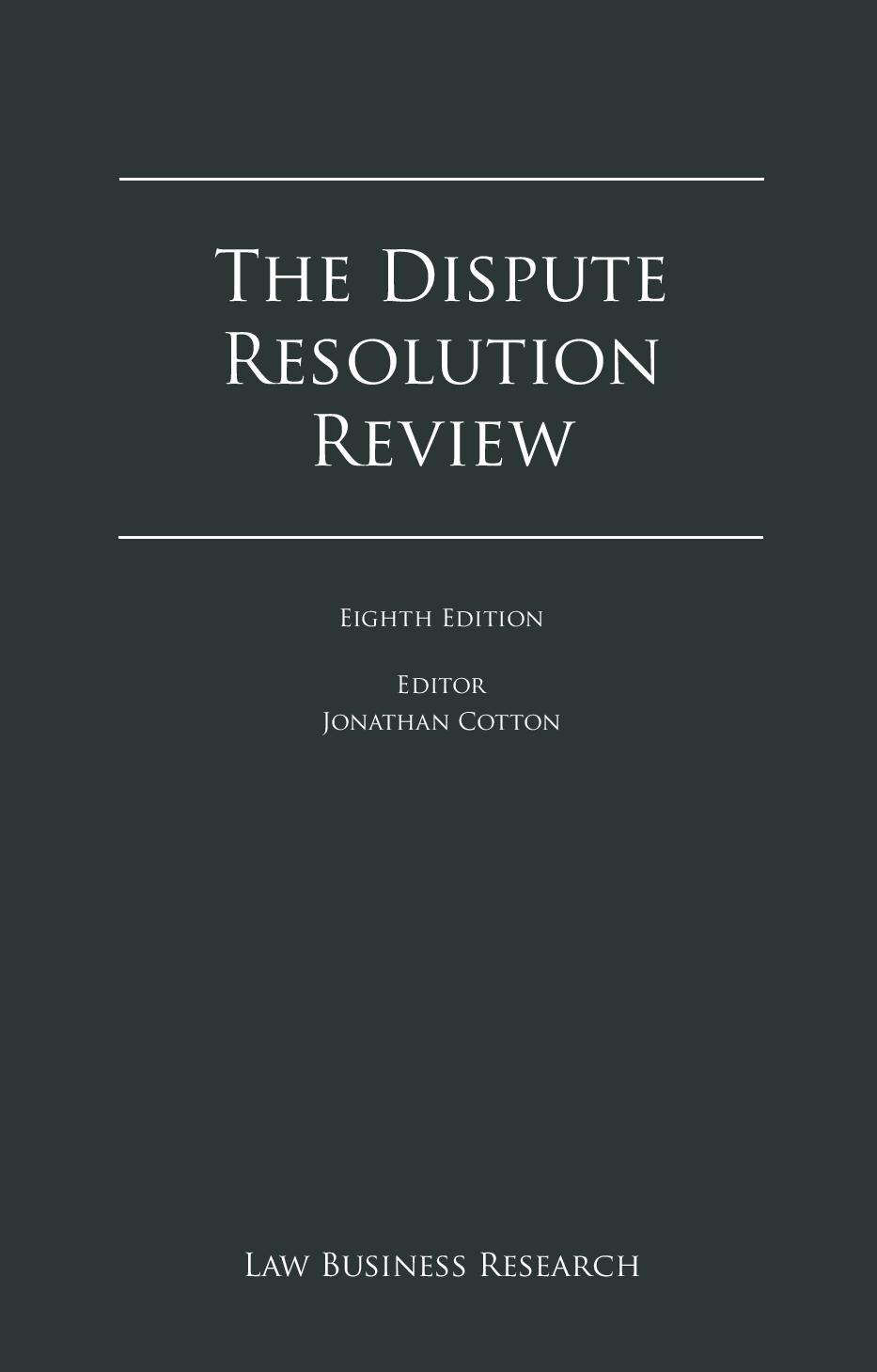 The Dispute Resolution Review - Cyprus 2016