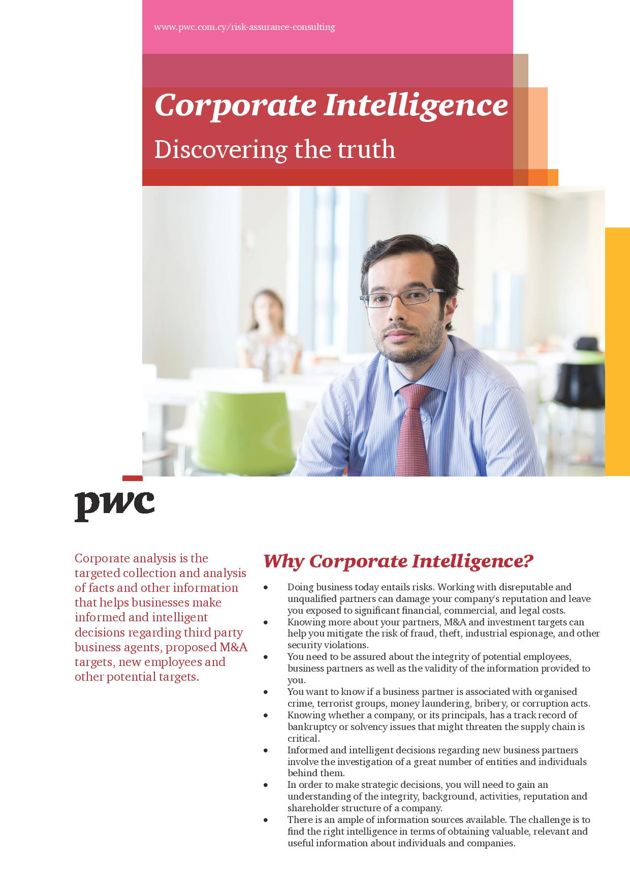 Corporate Intelligence - Discovering the Truth