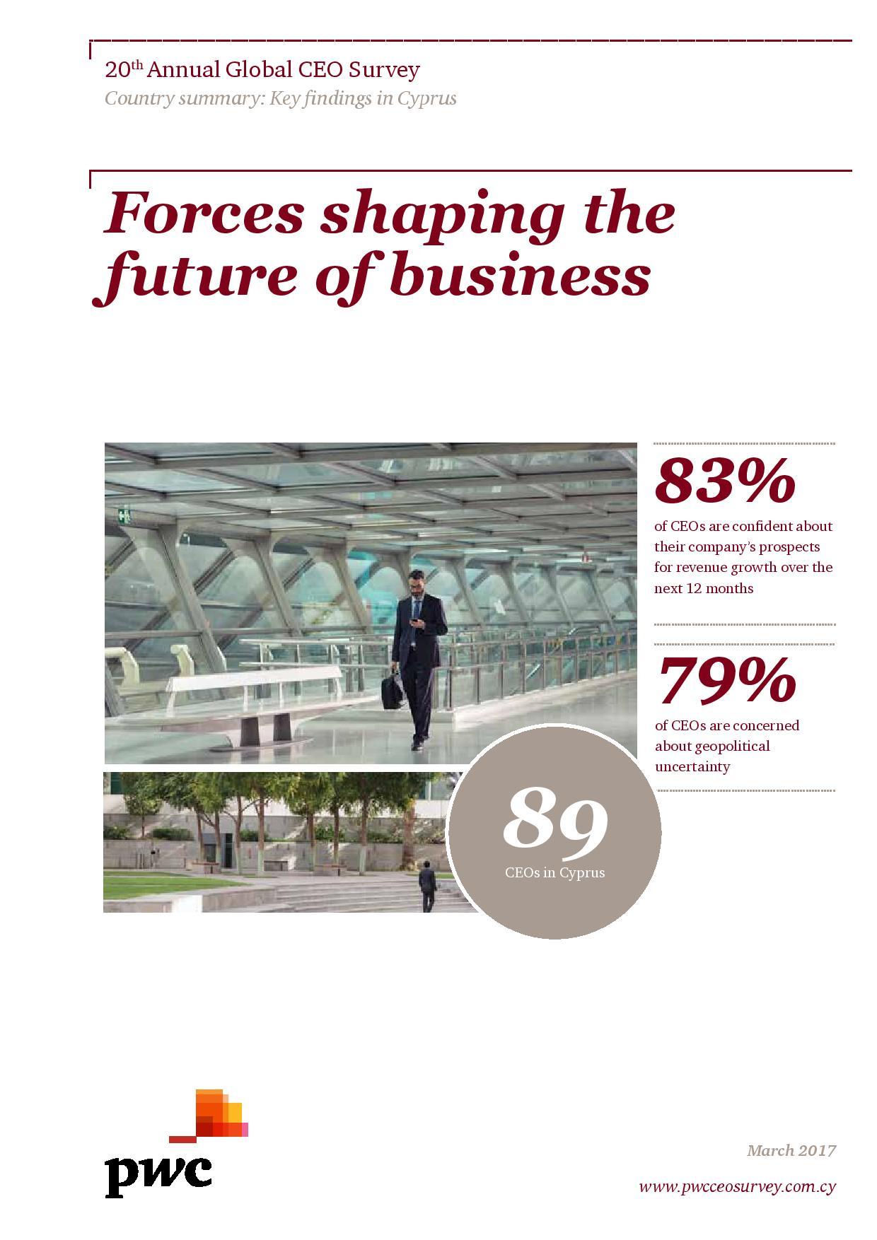 PwC: 20th Annual Global CEO Survey