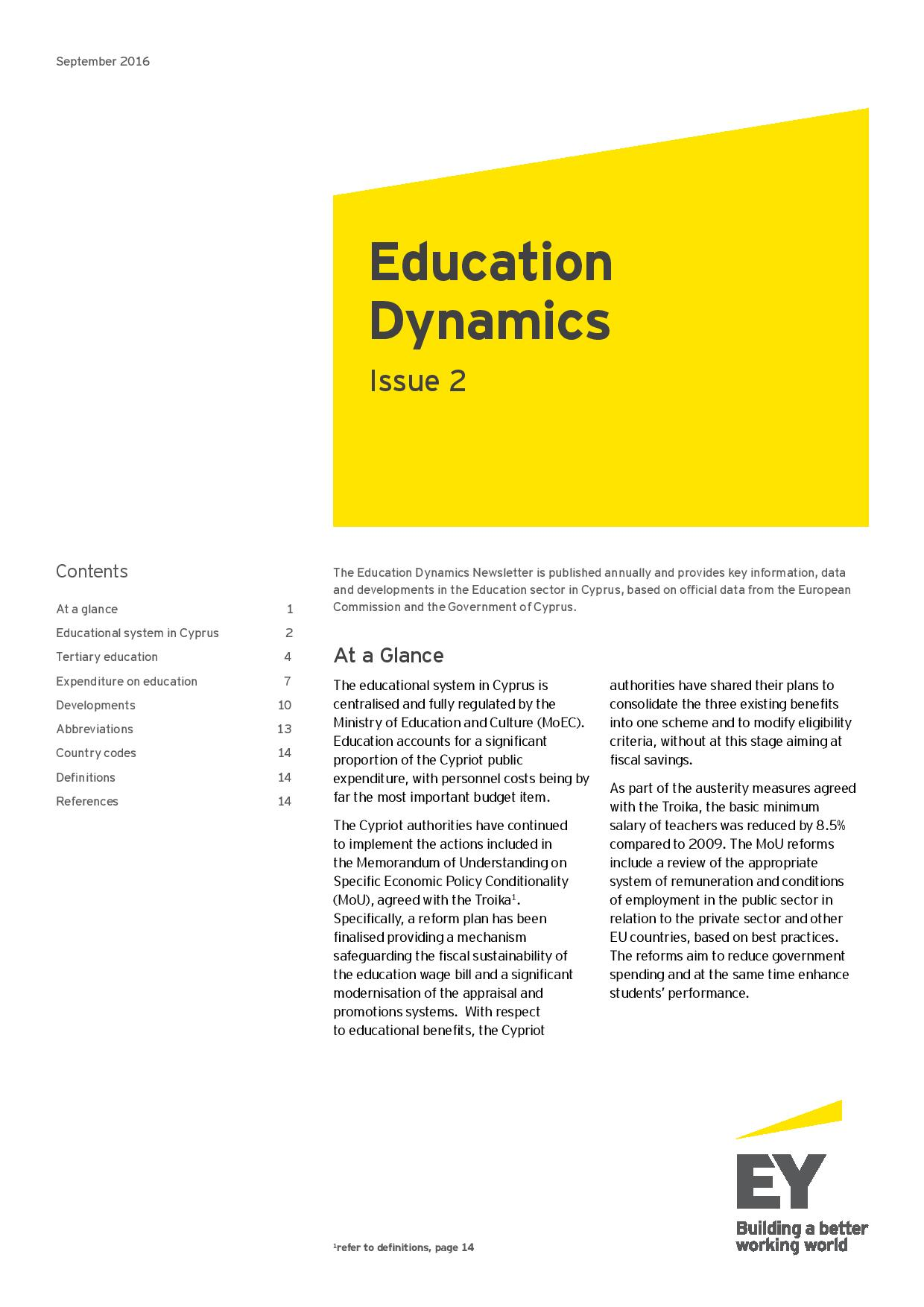 EY: Education Dynamics Issue #2 September 2016