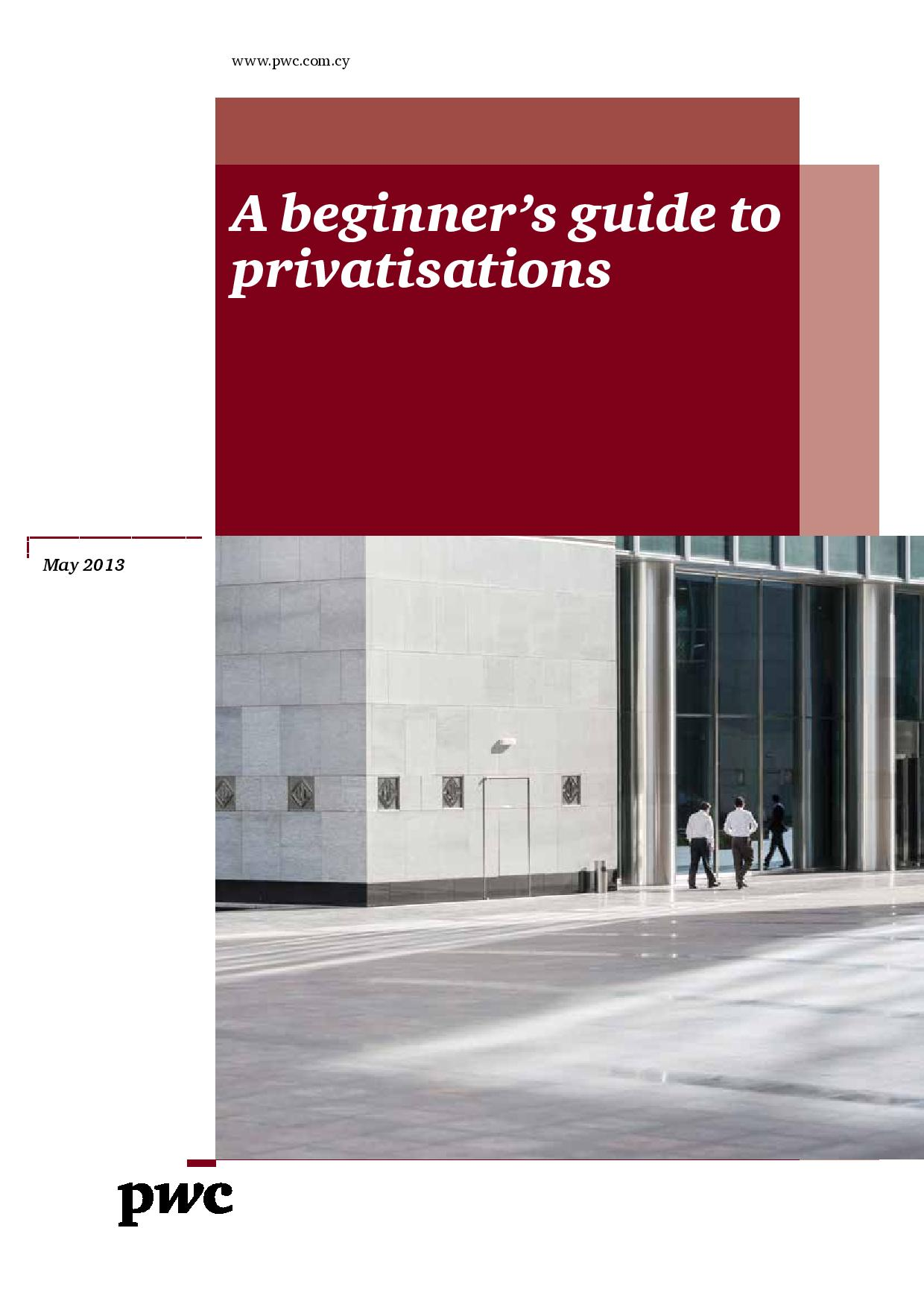 A beginner's guide to privatisations