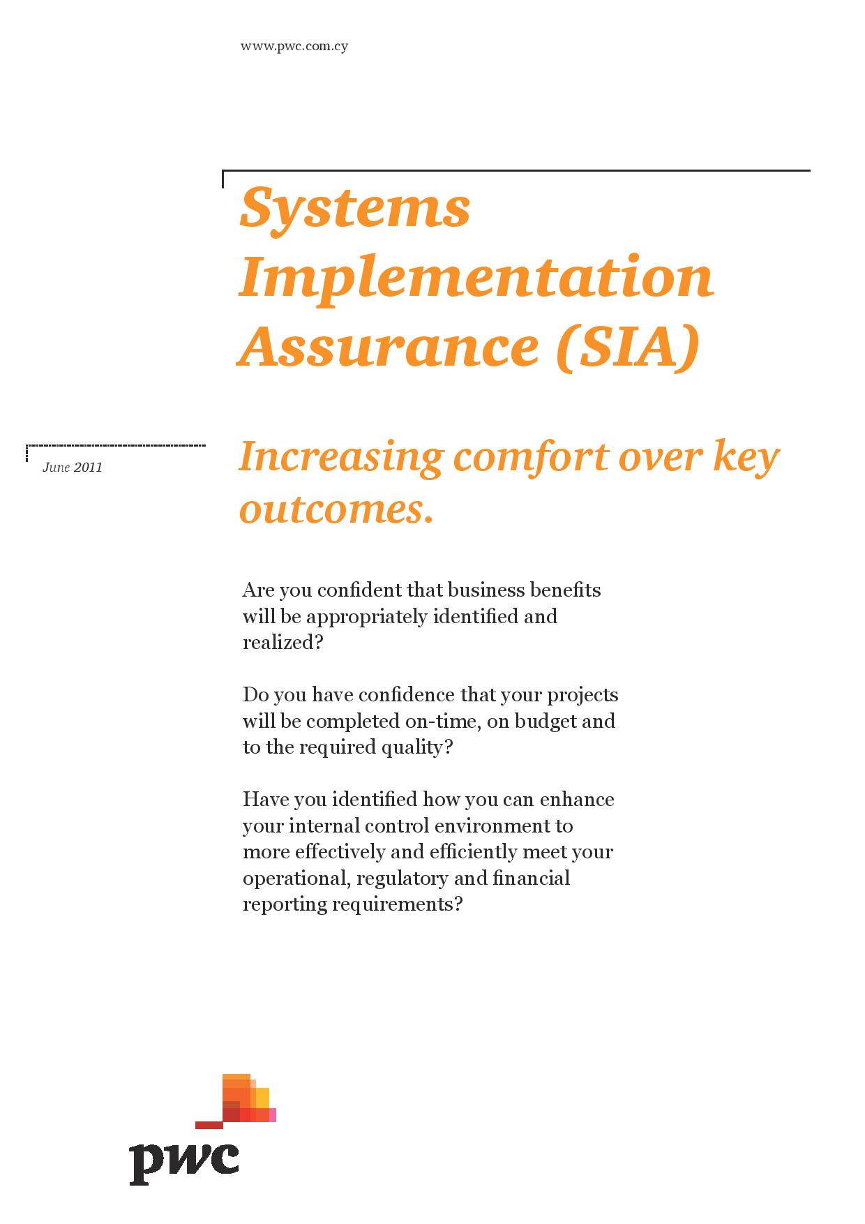 Systems Implementation Assurance - January 2013