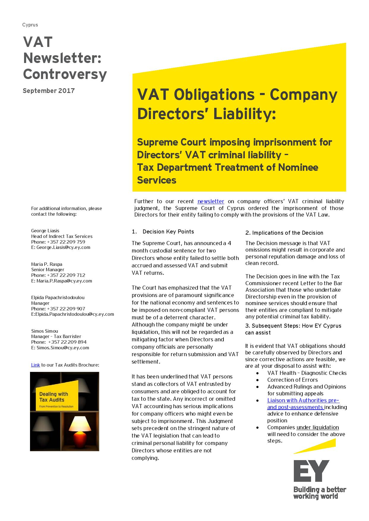 EY Tax Newsletter September 2017