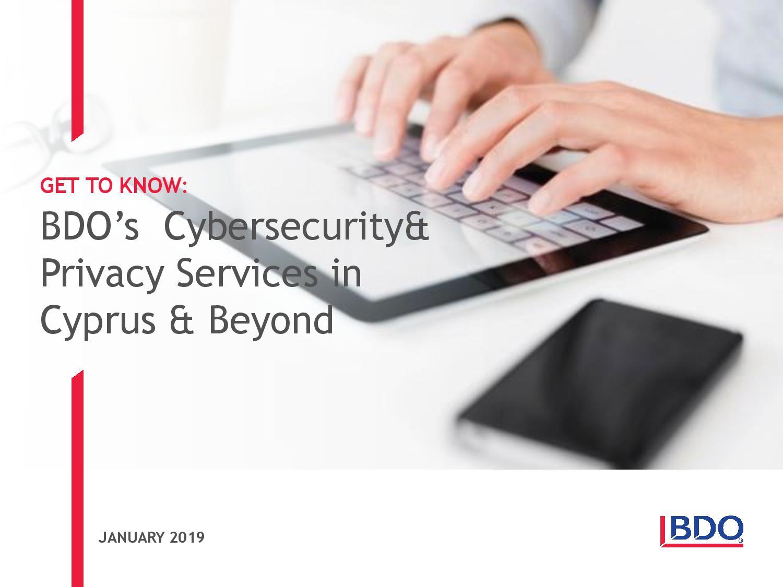 BDO: Cyber security & Privacy Services