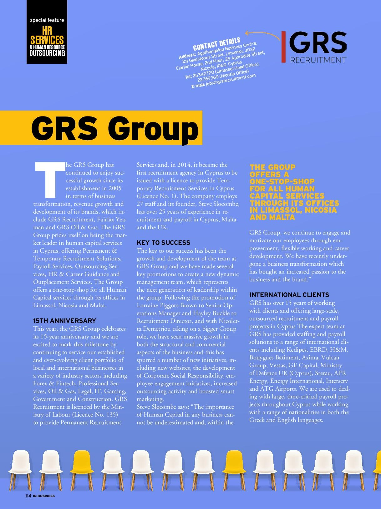 GRS Group: 15 years of excellence