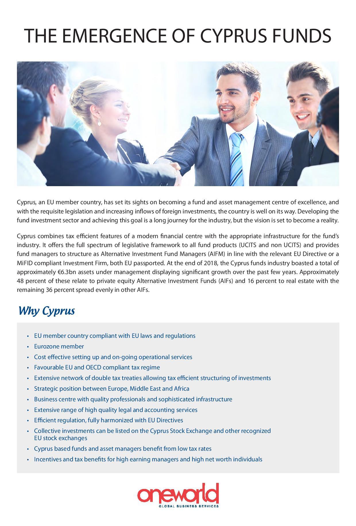 Oneworld Ltd: The Emergence of Cyprus Funds