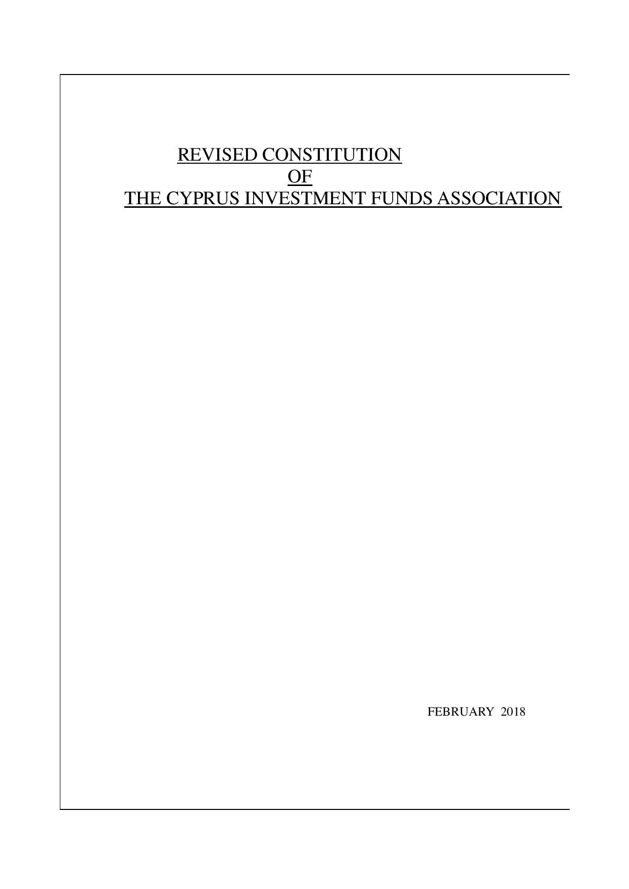 CIFA Constitution 2018