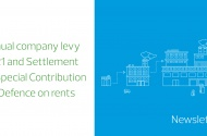 Annual company levy 2021 and Settlement of Special Contribution for Defence on rents